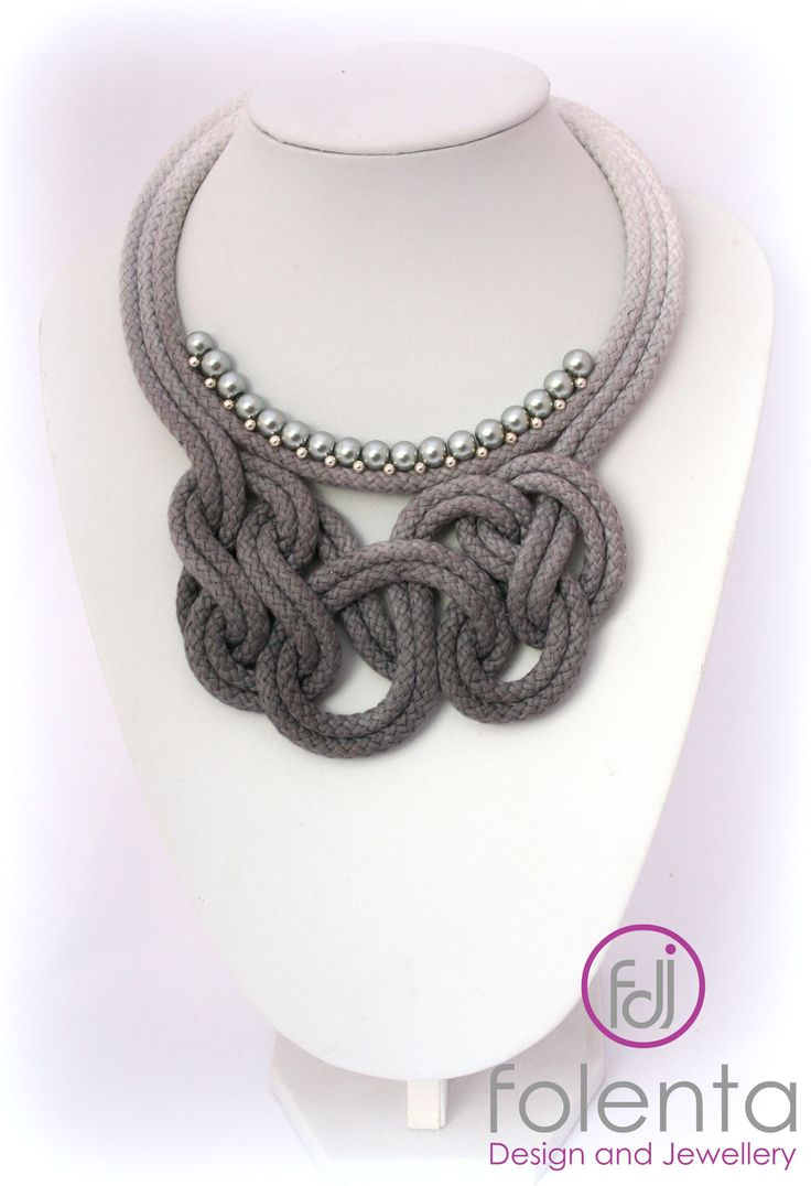 Handmade rope necklace