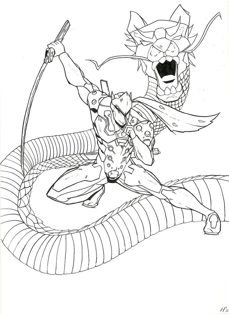 38 best coloriage overwatch images on pinterest for Overwatch genji coloring pages
