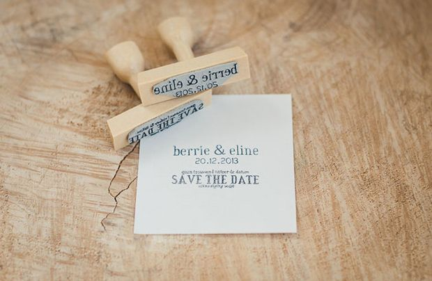 Renske Anne Save The Date stamp - Read more on One Fab Day: http://onefabday.com/renske-anna-stamps/