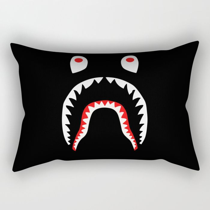 Buy Bape X Shark Rectangular Pillow by aleksandarmilosavljevic. Worldwide shipping available at Society6.com. Just one of millions of high quality products available.