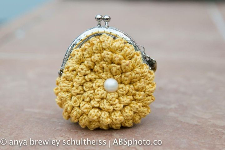 Small yellow purse