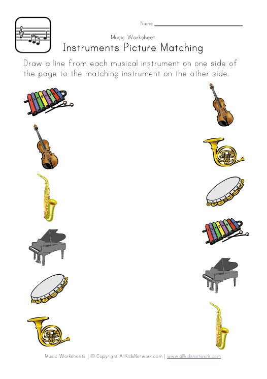 Worksheets Instrument Worksheets For Preschool 17 best images about instruments on pinterest trombone music themed worksheet for kids this is a printable picture matching with musical theme great