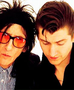 #alexturner with John cooper clarke his muse