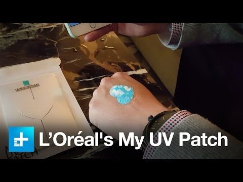 L'Oréal's My UV Patch - Hands on at CES 2016 - YouTube