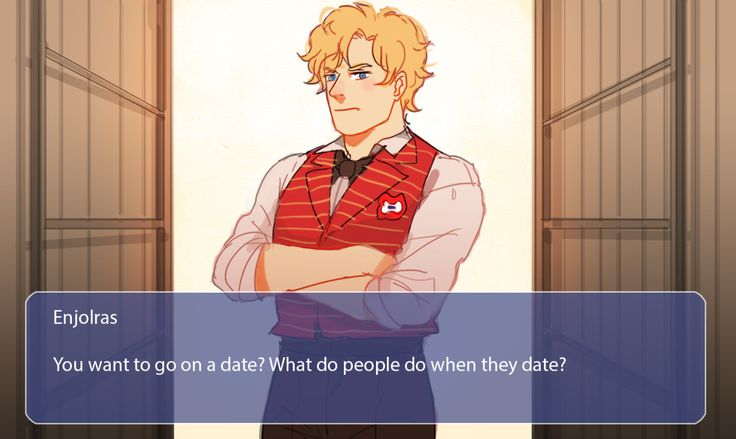 Mock-up screenshots if there is les mis dating sim game. I'm pinning for the drawing.