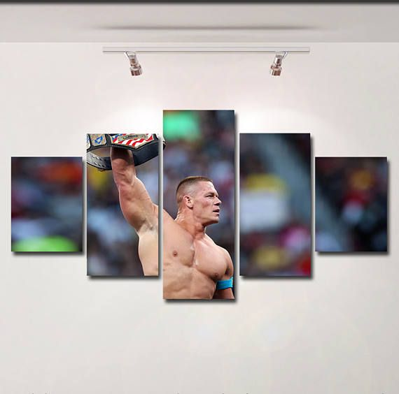 John Cena poster wwe raw canvas wall art print painting wall