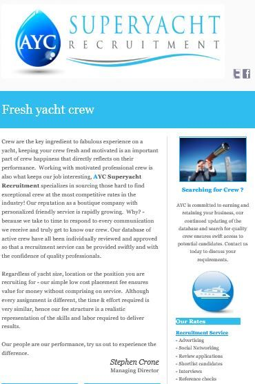 Crew are the key ingredient to fabulous experience on a yacht, keeping your crew fresh and motivated is an important part of crew happiness that directly reflects on their performance.  Working with motivated professional crew is also what keeps our job interesting, AYC Superyacht Recruitment specializes in sourcing those hard to find exceptional crew at the most competitive rates in the industry! Our reputation as a boutique company with personalized friendly service is rapidly growing.