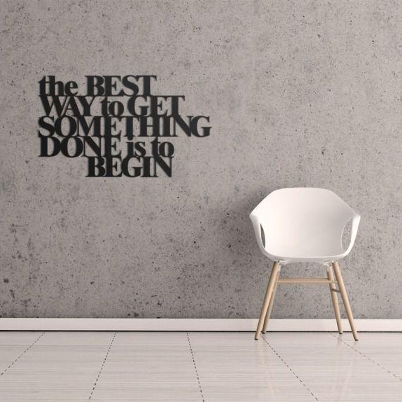 Napis na ścianę The best way...