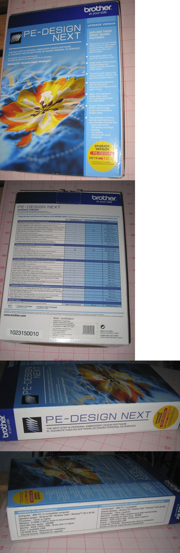 Digitizing Software 71197: Brother Pe-Design 5 6 7 8 To Pe Design Next Upgrade Software New Free Ship! -> BUY IT NOW ONLY: $199 on eBay!