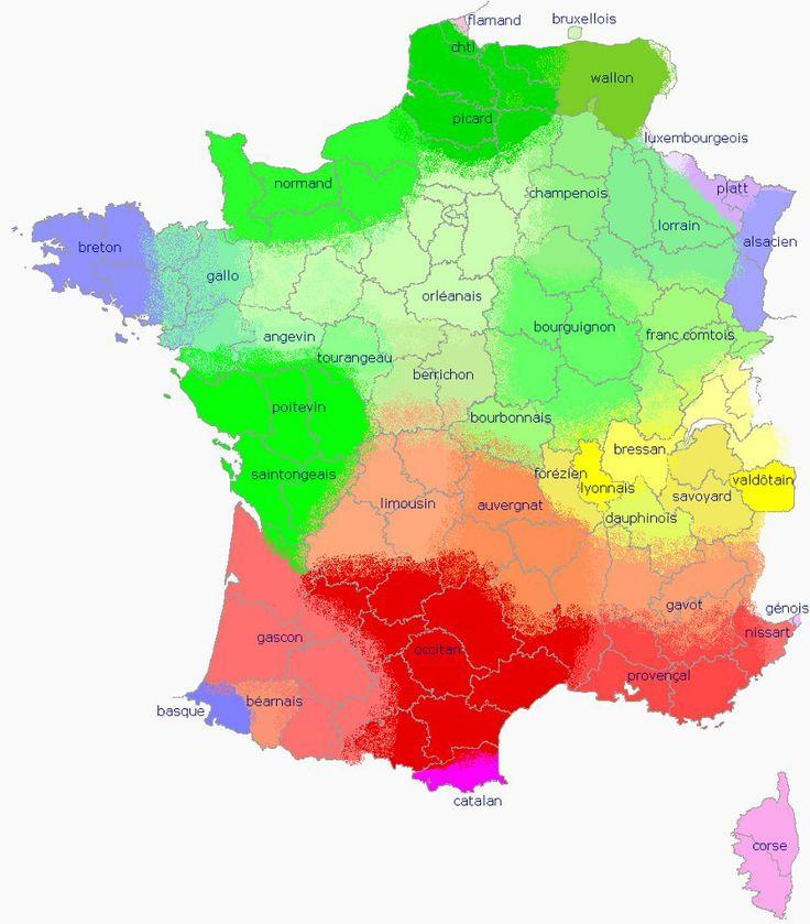 Carte linguistique de la France (langues et dialectes)