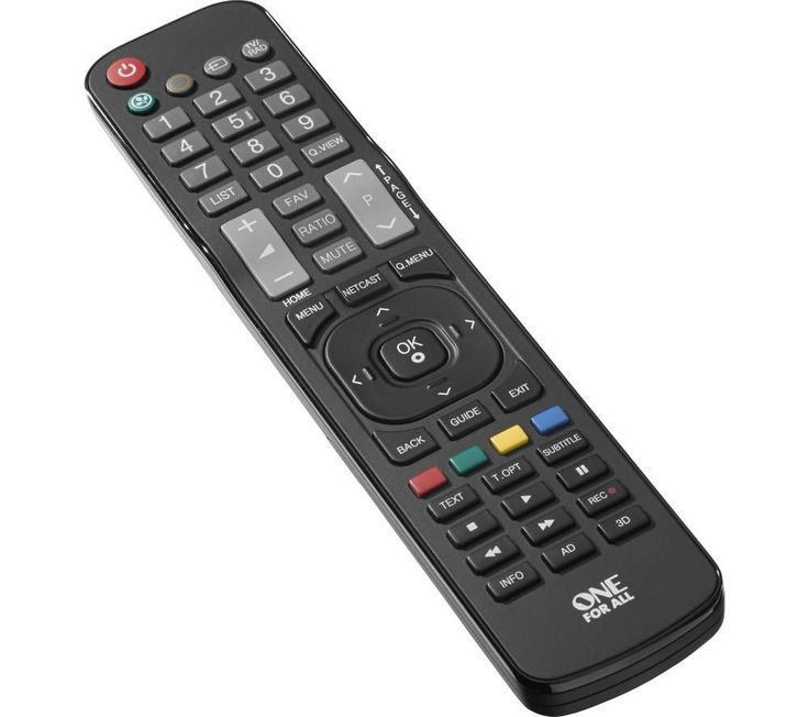 Buy ONE FOR ALL  URC1911 LG Replacement Remote Control Price: £13.99 Get full use of your TV features again with the One for All URC1911 LG Replacement Remote Control - ideal for replacing a lost or damaged remote.The Sony Replacement Remote Control is compatible with all LG TVs, so you won't need to spend time hunting for the exact remote for your TV. There is no setup required, and it can...