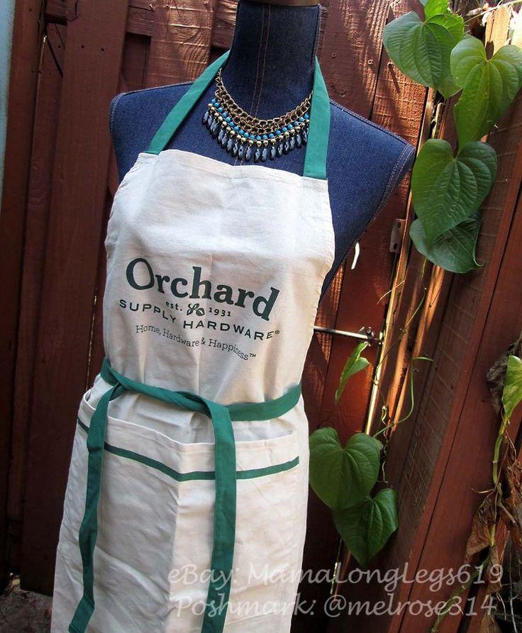 Orchard Supply Hardware Staff Employee Apron Costume Green Beige Builder #OrchardSupplyHardware