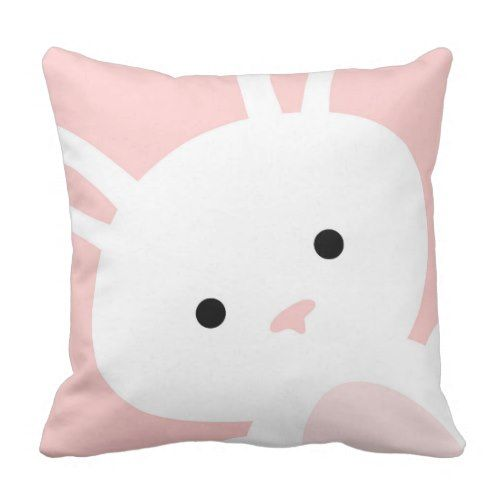Child Pink Bunny Nursery Throw Pillow. >>> Have a look at even more by checking out the image link
