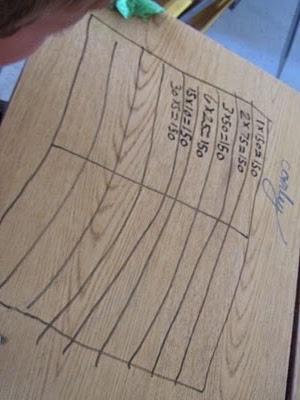 Dry erase markers work on most school desk tops (think I'd try it first - and I'd want a low-fume marker).