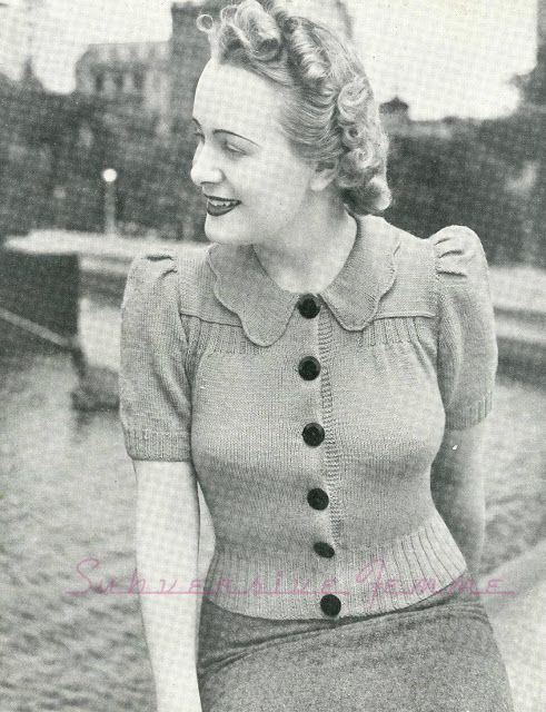 Subversive Femme: Out-Door Charm, Ladies Cardigan - c. 1940s