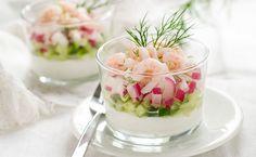 Verrine crevettes, radis et concombre - WeCook