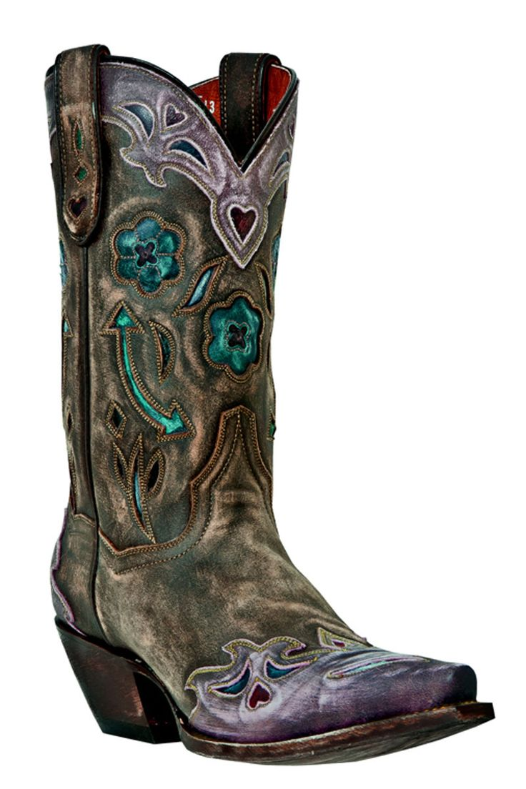 Dan Post Boots Brown Vintage Arrow Cowgirl Boots