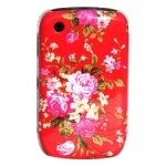 blackberry curve 8520 red floral hard case at cheap price