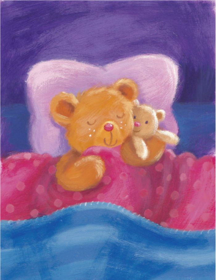 Melanie Mitchell - teddy art , sleeping, mel mitchell.jpg