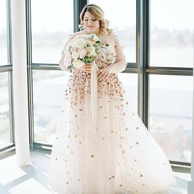We Absolutely Love Nicolettemason In Her Custom Made Csiriano Dress Plussizeweddingdress