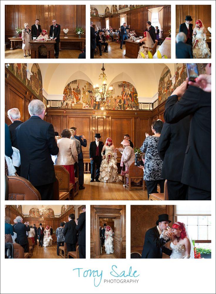 Wedding at Braintree Town Hall | Tony Sale Photography #braintree #braintreetownhall #wedding #vintage #weddingdress
