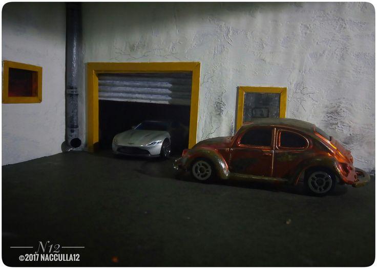 Diecast Photography  scale 1:64 VW 1300 beetle vs Aston Martin DB10