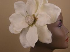 Magnificent Magnolia Ivory Hair Comb Fascinator
