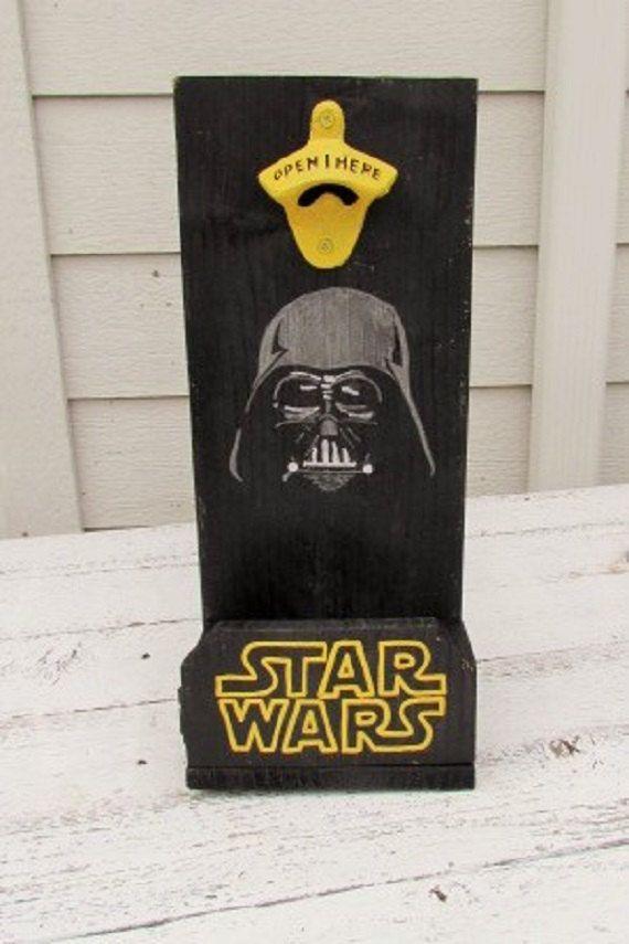 Star Wars Beer Bottle Opener Groomsmen Gift Darth Vader