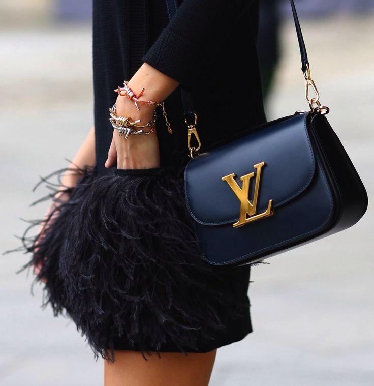 feathery details | fall fashion | Louis Vuitton