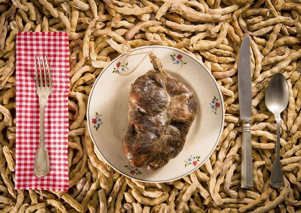 O butelo e as casulas à mesa dos Bragançanos.