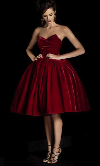 Dolce & Gabbana / bordeaux velvet / holiday dress