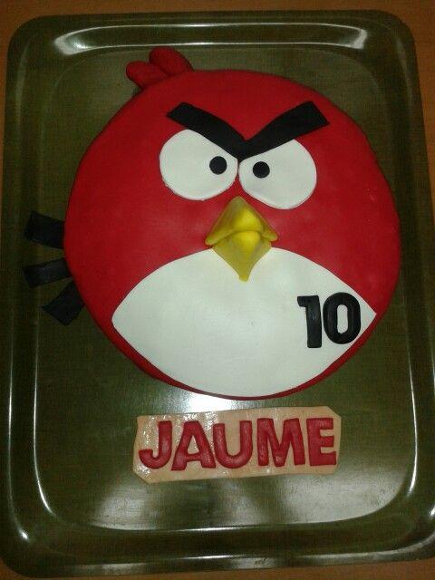 Pastís Angry Bird aniversari Jaume 10 anys | DIY/creacions ...