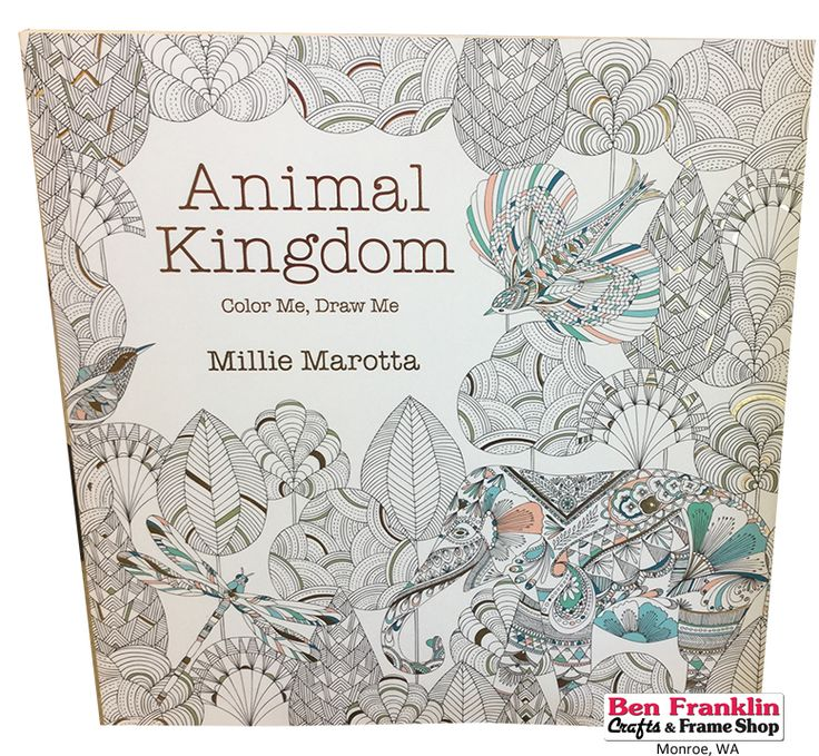 Coloring Books For Adults Animal Kingdom By Millie