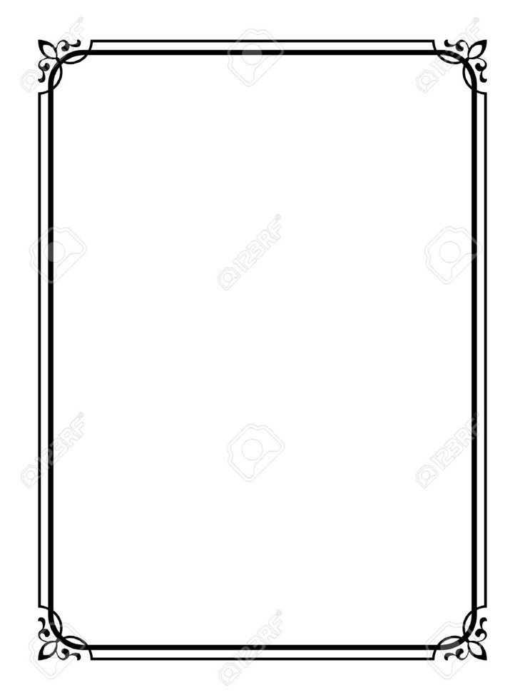 Векторные простой черный каллиграф декоративный орнамент кадра