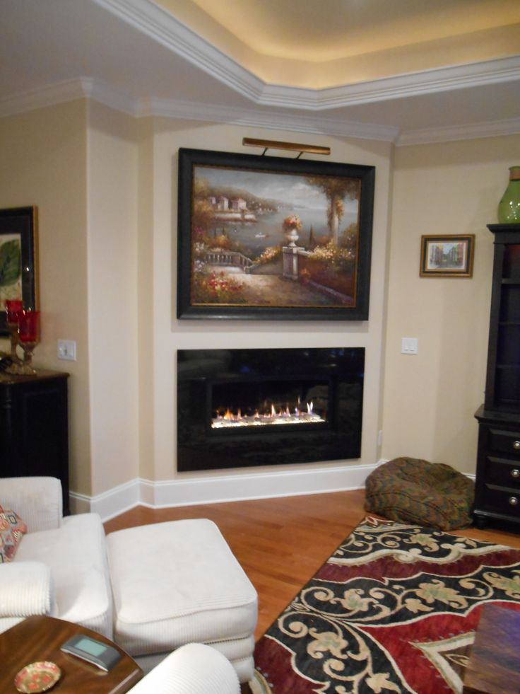This is a Majestic Echelon 600 linear direct vent gas fireplace in ...