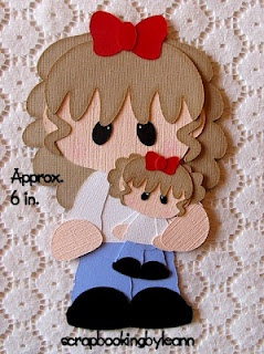 Girl and Dolly Paper Piecing