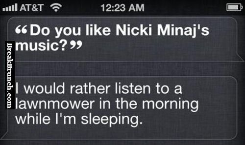 Do you like Nicki Minaj's music - http://breakbrunch.com/funny-picture-3157