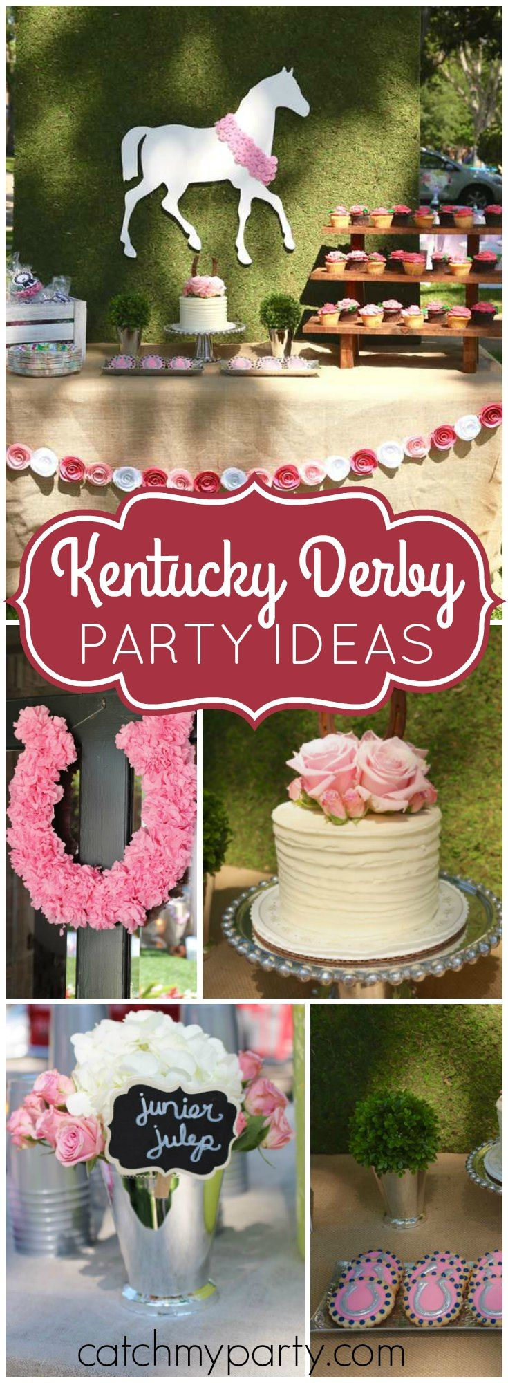 Celebrate a 2nd birthday with the Kentucky Derby at this party! See more party ideas at Catchmyparty.com!