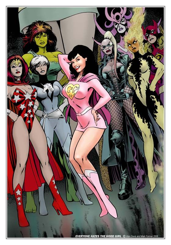 This is Everyone Hates The Good Girl, drawn by Alan Davis, which was a lithograph exclusive for this year's Wizard World con.