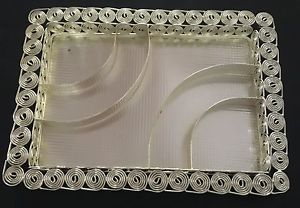 Rectangular Metal Dry Fruit And Cookies Serving Tray