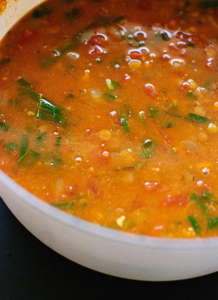 Vegetarian lentil soup - cookieandkate.com