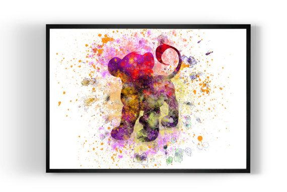 Lion King Simba Disney Print Art Print Art Print by MulticolourArt