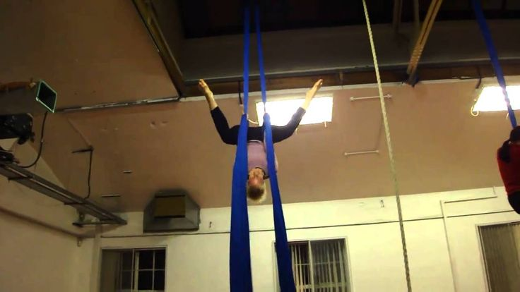 Butterfly Drop..do not look up though, it will just loosen you up on silks