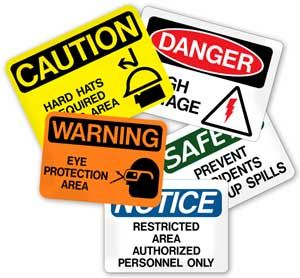 Hazard...signs  must be used in the location where needed at all times as a schools health and safety policy.