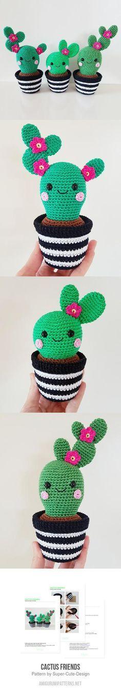 Cactus Friends amigurumi pattern