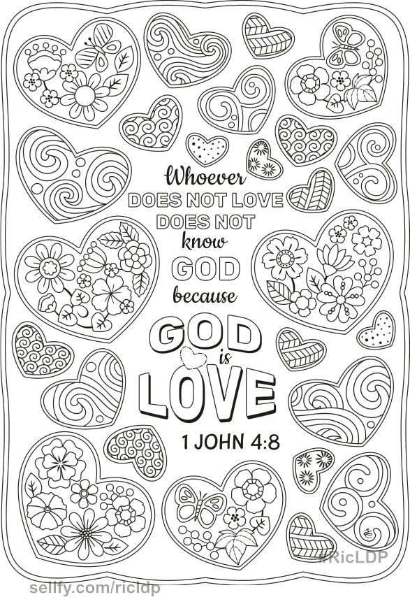 Set Of 10 Bible Coloring Pages Bible Coloring Pages Love Coloring Pages Coloring Pages