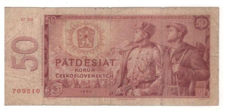 Czechoslovakia 50 Korun 1964  Banknotes Circulated