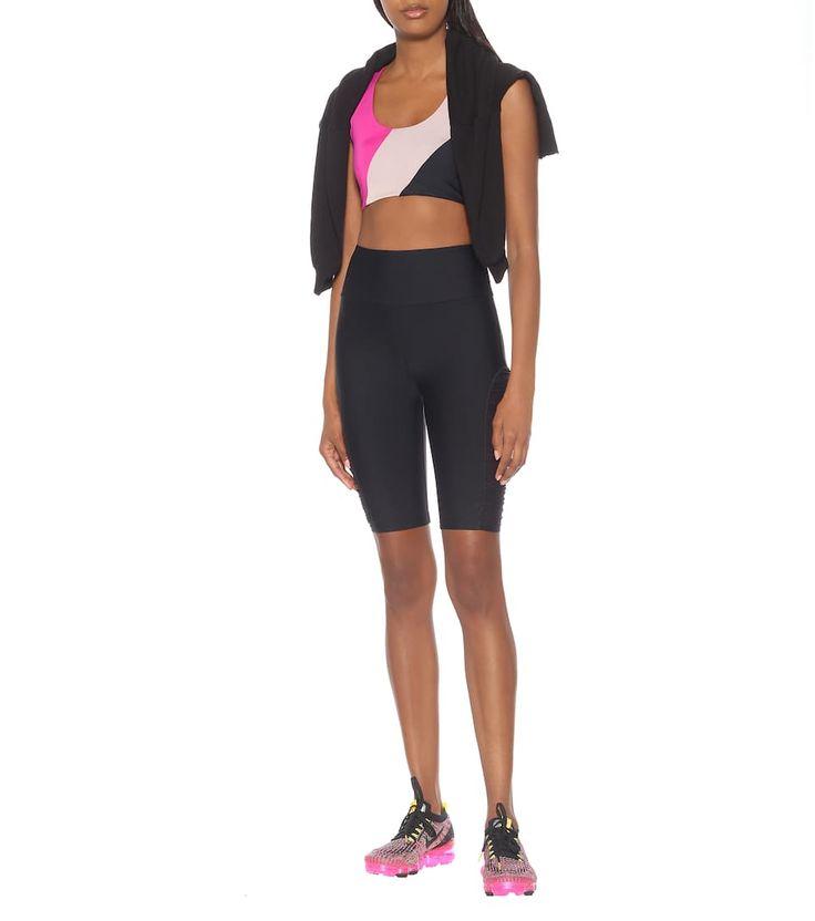 Delta nylon biker shorts