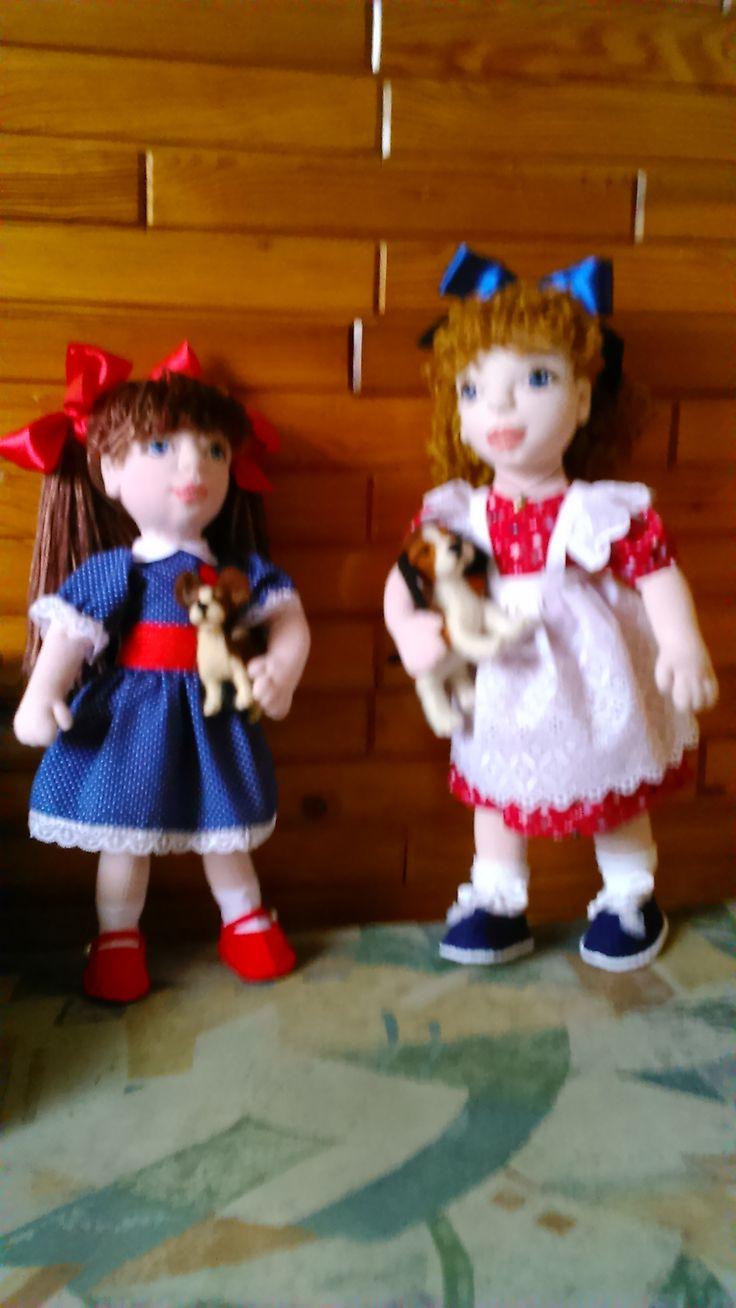 We love dogs! Cloth dolls by Alina Wodzińska