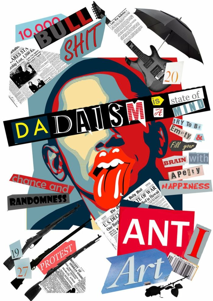 dadaismus moderner trend anti poster collage